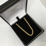 Preowned 9 carat yellow gold rope chain