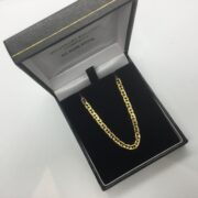 9 carat yellow gold anchor chain