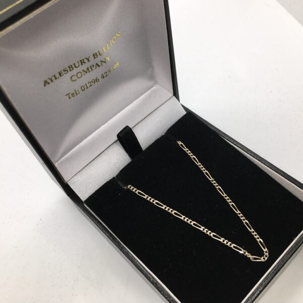 Sterling silver figaro chain