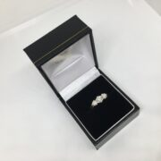Preowned 18 carat yellow gold 3 stone diamond ring