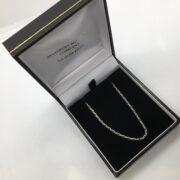 Sterling silver diamond cut belchar chain
