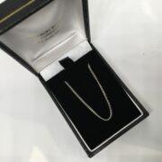 18 carat white gold curb chain