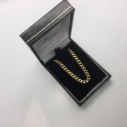 18 carat yellow gold curb chain