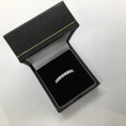 Platinum and diamond band/eternity ring