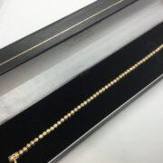 Preowned 18 carat yellow gold diamond tennis bracelet