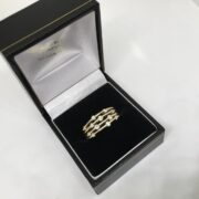 Preowned 14 carat yellow gold diamond scatter ring