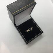 9 carat yellow gold sapphire and diamond ring