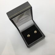 9 carat 3 colour gold knot stud earrings