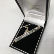 Preowned sterling silver feature hallmark tie slide