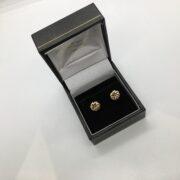 9 carat yellow gold knot earrings