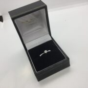 Sterling silver single stone diamond ring