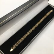 Preowned 9 carat yellow gold linked bracelet