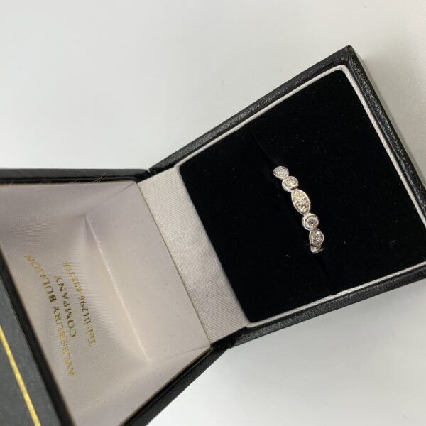 18 carat white gold fancy diamond band/eternity ring
