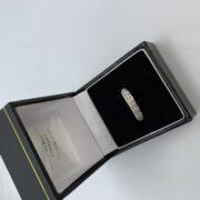 18 carat white gold diamond band/eternity ring