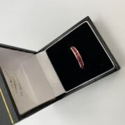 18 carat yellow gold ruby band/ eternity ring