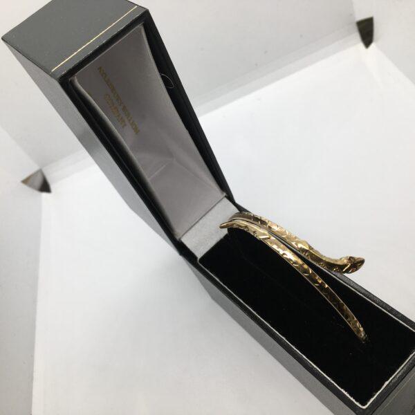 Preowned 9 carat yellow gold snake bangle