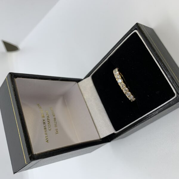 18 carat yellow gold diamond band/eternity ring