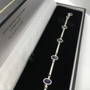 Preowned 9 carat white gold amethyst bracelet