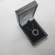 Sterling silver circle pendant on a chain