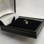 Preowned 14 carat white gold single diamond stud