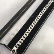 Sterling silver curb bracelet
