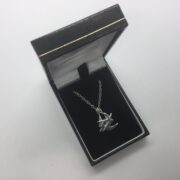 Sterling silver swallow pendant on a chain