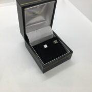 9 carat white gold cube stud earrings