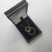 Sterling silver rose gold plate necklace