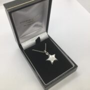 Sterling silver star pendant on a chain