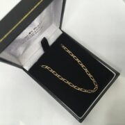 Preowned 9 carat yellow gold figaro chain