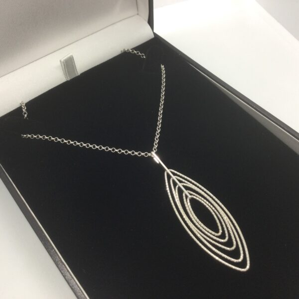 Sterling silver sparkle pendant and chain