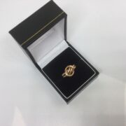 Preowned 9 carat rose gold knot ring