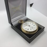 Preowned 18 carat yellow gold pocket watch