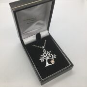 Sterling silver tree pendant on a chain