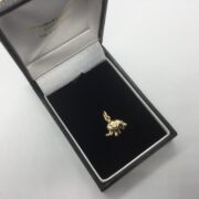 9 carat yellow gold elephant charm/ pendant
