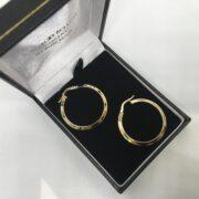 9 carat yellow gold hoop earrings