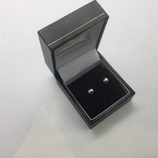 9 carat yellow gold ball stud earrings