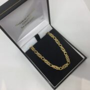 Preowned 9 carat yellow gold celtic link chain
