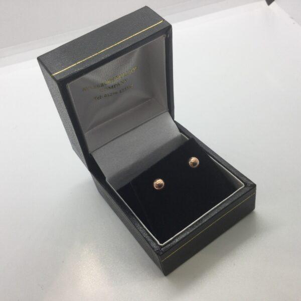 9 carat rose gold ball stud earrings