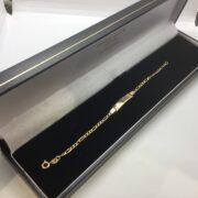 9 carat yellow gold children's Id bracelet