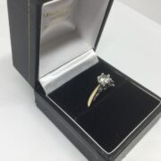 Preowned 9 carat yellow gold single stone diamond ring