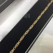 Preowned 9 carat yellow gold celtic linked bracelet