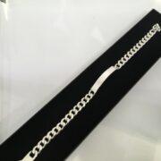 Sterling silver identity bracelet