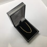 Preowned 9 carat yellow gold barley corn chain