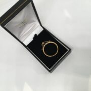 Preowned 9 carat yellow gold full sovereign mount