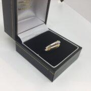 9 carat three colour gold Russian wedding band