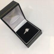 18 carat white gold single stone diamond ring