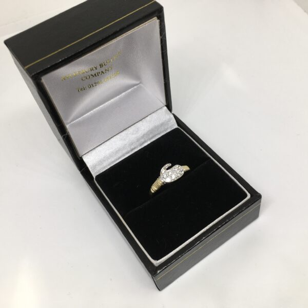 9 carat yellow gold cubic zirconia boxing glove ring