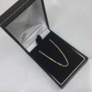 9 carat yellow gold trace chain