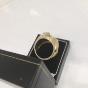 Preowned 9 carat yellow gold horse shoe ring